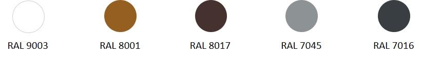 RAL - coloris disponibles - EHA2 couleurs