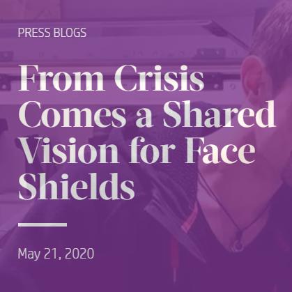 De la crise est naît une vision commune des visières de protection